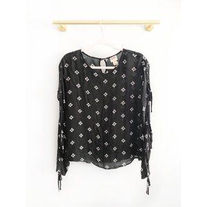 Mossimo x Target | Black & White Tie Sleeve Top